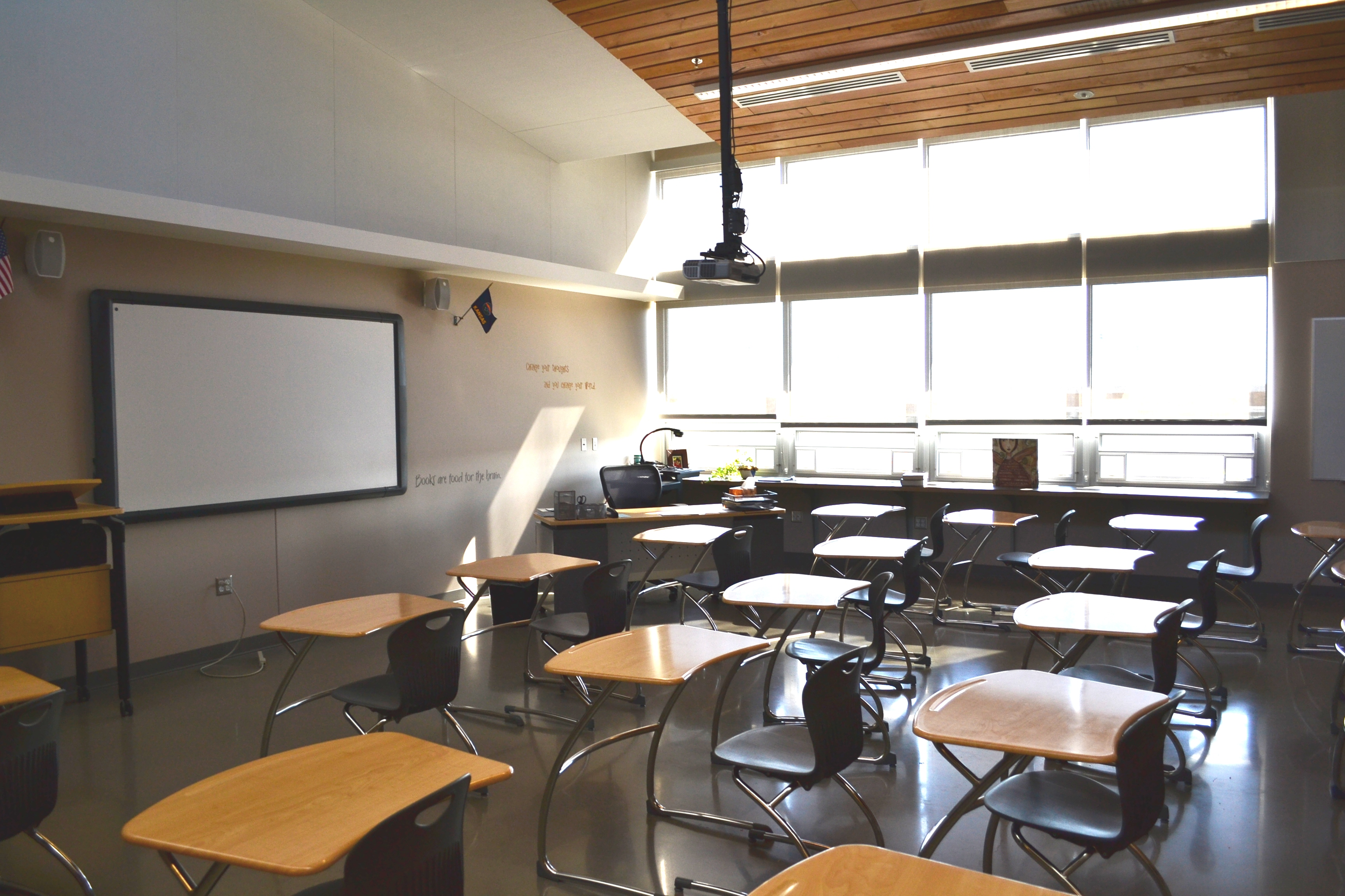 Modern College Classroom ~ Designing green schools that advance public health