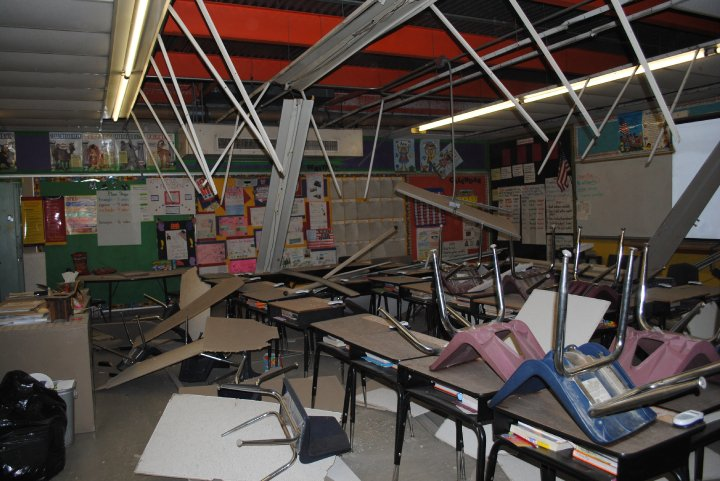 damaged facilities in public schools The epa estimates that about 90,000 public schools and half a million child-care facilities are not regulated under the safe drinking water act because they depend on water sources such as.